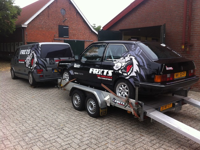 Be combinatie voor driftauto